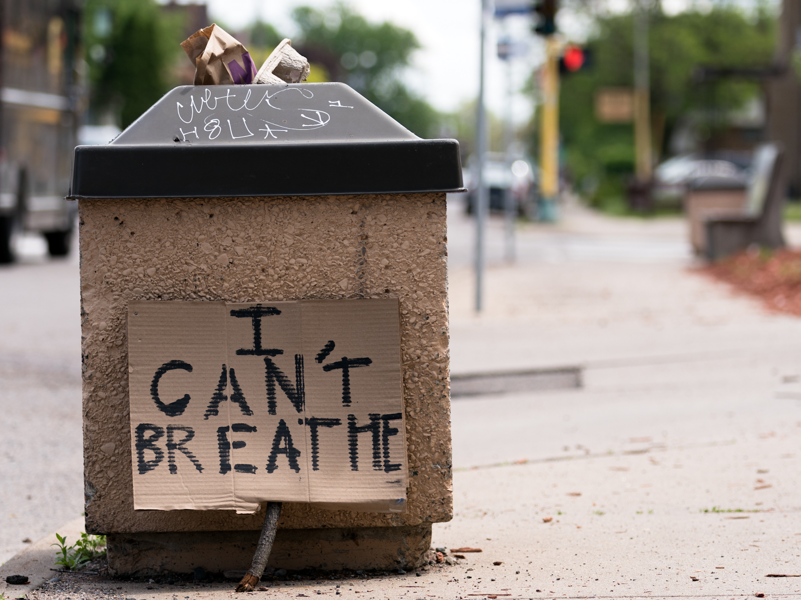 """I Can't Breathe"" sign"