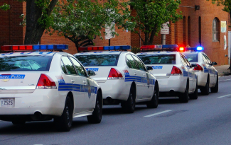 Baltimore police squad cars