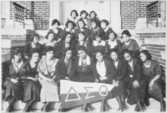 Delta Sigma Theta Chapter at Wilberforce University in 1922