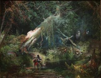 Slave Hunt, Dismal Swamp, Virginia painting by Thomas Moran, 1862