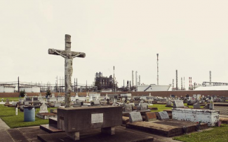 HOLY ROSARY CEMETERY IN TAFT, LOUISIANA, IS ADJACENT TO THE DOW CHEMICAL CORPORATION.