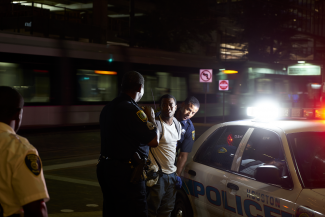 Houston Police arresting young man