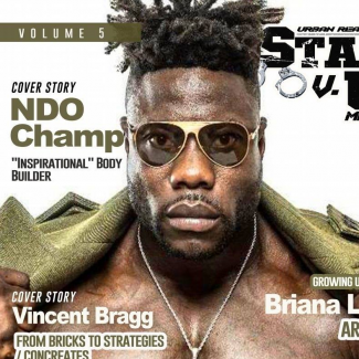 Cover model for State versus Us Magazine