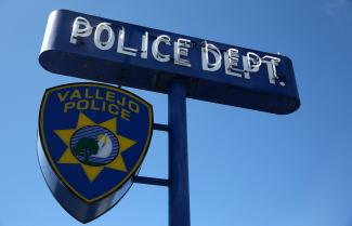 Vallejo Police Department sign